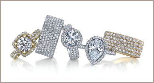 Engagement and Wedding Rings and jewelry available at Medawar